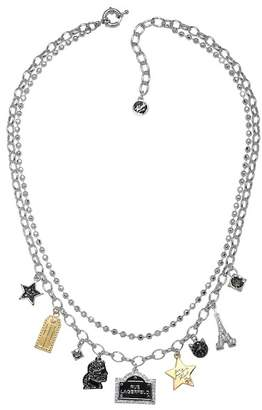 Karl Lagerfeld Love From Paris Swarovski Crystal Accented Mixed Charm Necklace