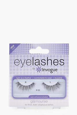 boohoo NEW Womens Invogue Glamourise Fuller Lashes in Black size One Size