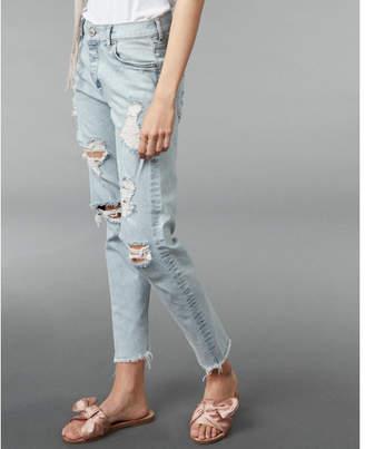 Express high waisted distressed original vintage skinny jeans