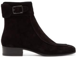 Saint Laurent Miles Suede Ankle Boots - Womens - Black