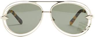 Karen Walker Silver Metal Sunglasses