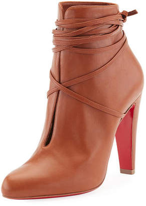 Christian Louboutin S.I.T. Rain Wrap Red Sole Bootie