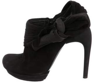 Balenciaga Suede Ankle Booties Black Suede Ankle Booties