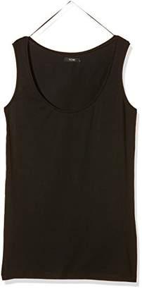 Ichi Women's 100777 Slim Fit Crew Neck Short Sleeve Tank Top - White - 12