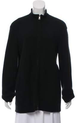 Loro Piana Reversible Knit Cardigan Black Reversible Knit Cardigan