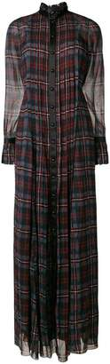 Philosophy di Lorenzo Serafini checked maxi shirt dress