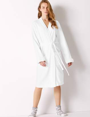 Marks and Spencer Pure Cotton Textured Dressing Gown