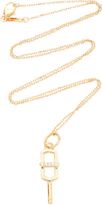 Monica Rich Kosann Rectangular Key 18K Gold And Diamond Necklace