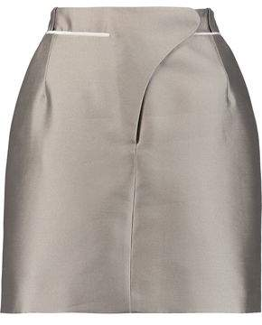 Carven Grosgrain-Trimmed Mikado Mini Skirt