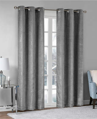 "Madison Park Luxe 42"" x 84"" Chenille Grommets Window Curtain Pair"