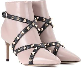 Valentino Studwrap leather ankle boots