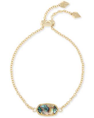 Kendra Scott Elaina Gold Chain Bracelet in Abalone Shell