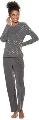 So Juniors' SO Graphic Tee & Microfleece Pants Pajama Set