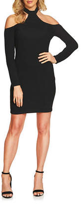Cynthia Steffe Cold Shoulder Choker Dress