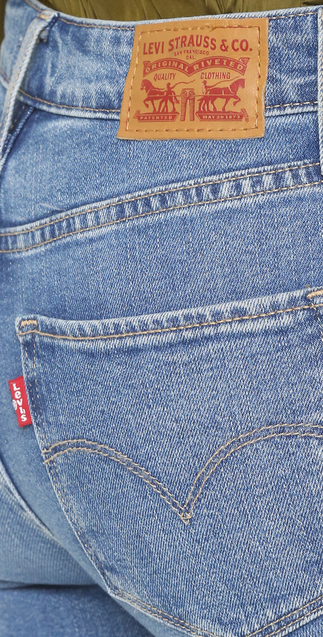 Levi's 721 High Rise Distressed Skinny Jeans 2