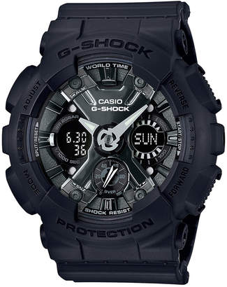 G-Shock Women's Analog-Digital Black Resin Strap Watch 46mm GMAS120MF-1A $130 thestylecure.com