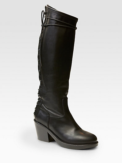 Haider Ackermann Leather Lace-Up Boots