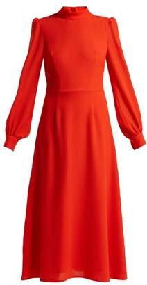 Goat Goldfinch Wool Crepe Dress - Womens - Red