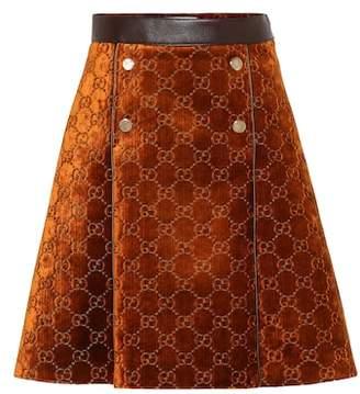 Gucci GG velvet skirt