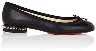 Christian Louboutin Women's La Massine Nappa Leather Flats - Black