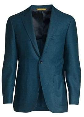 Canali Chevron Wool Sport Jacket