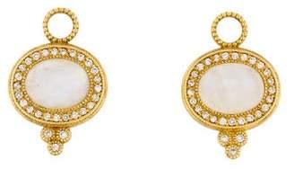 Jude Frances 18K Moonstone & Diamond Provence Pavé Lateral Earring Charms