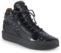 Giuseppe Zanotti Double Zip Pyramid High-Top Sneakers
