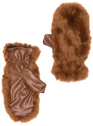 Free Press Faux Fur Mittens