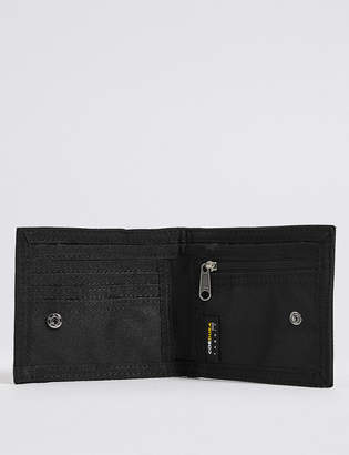 M&S Collection Scuff Resistant Cordura® Bi Fold Coin Wallet With CardsafeTM