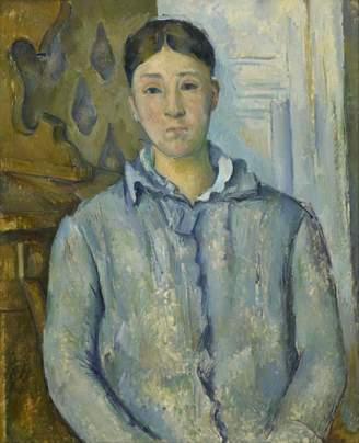 Cezanne The Museum Outlet - Portrait of Madame in Blue, 1890 - A3 Poster Print