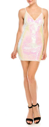 privy White Sequin Dress