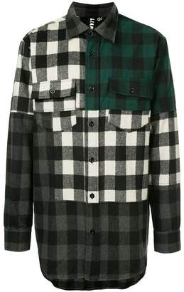 Liam Hodges contrast check shirt