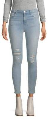 J Brand Distressed Washed Jeans
