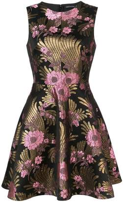 Josie Natori jacquard fit-and-flare dress