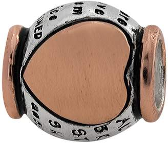 """Individuality Beads Sterling Silver & 14k Rose Gold Over Silver """"Braver Stronger Smarter"""" Bead"""