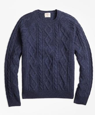 Merino Wool Cable Crewneck Sweater $108 thestylecure.com