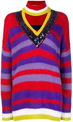 Pinko striped turtle neck jumper
