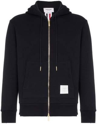 Thom Browne centre-back stripe loopback hoodie
