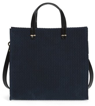 Clare V. 'Petite Simple - Marine Rope' Woven Suede Tote $325 thestylecure.com