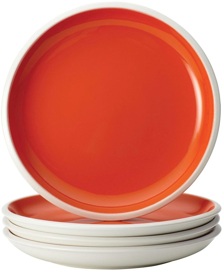 Rachael Ray Rise Salad Plate Set - Red