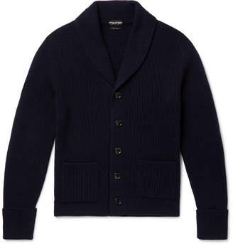 Tom Ford Slim-Fit Shawl-Collar Ribbed Cashmere Cardigan