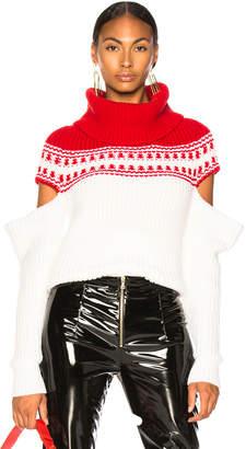 Monse Slashed Sleeve Fairisle Sweater