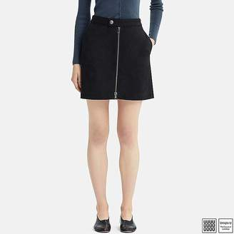 Uniqlo Women's U Cotton Zipped Mini Skirt