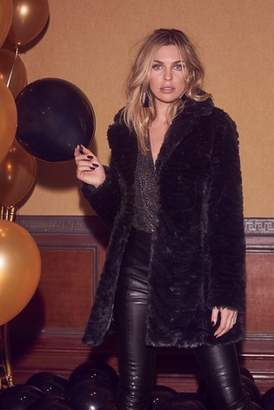Next Lipsy Abbey Clancy x Zebra Faux Fur Coat - 6