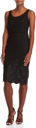 Betsey Johnson Embroidered Scalloped Dress