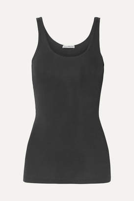James Perse The Daily Ribbed Stretch-supima Cotton Tank - Black
