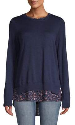 NYDJ Mixed Media Two-Fer Sweater