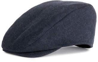 H&M Wool-blend Flat Cap - Blue