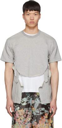 Comme des Garcons Grey Pile Sweatshirt
