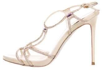 Rene Caovilla Embellished Glitter Sandals